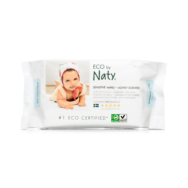 Enyhén illatosított törlőkendő - Naty