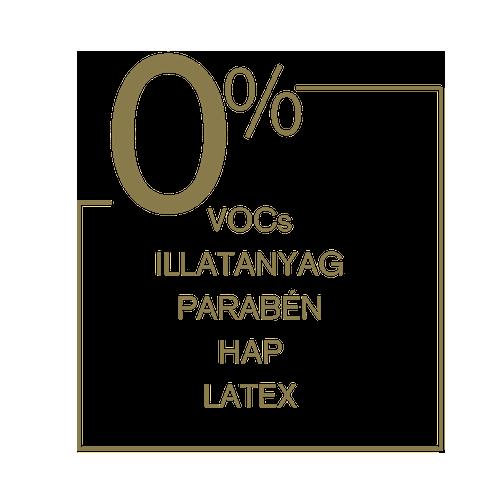 0% VOCS, Illatanyag, Parabén, HAP, Latex - Naty