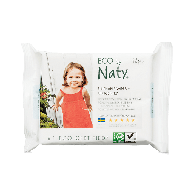 WC-be dobható törlőkendők - Naty